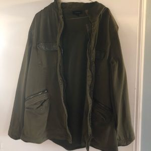 Torrid size 2 glam military green army jacket